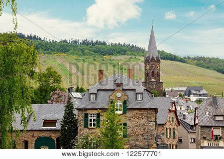 Idyllic Village Lieser Beside Moselle River
