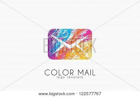 Mail logo. Color mail logo design. Creative logo. Net logo.