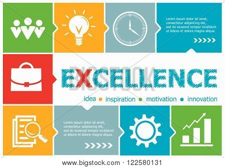 Excellence Design Illustration Concepts For Business, Consulting, Management, Career.