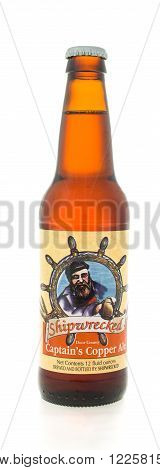 Winneconne WI - 3 February 2015: Shipwrecked beer was first brewed in 1997 and located in Egg Harbor WI.
