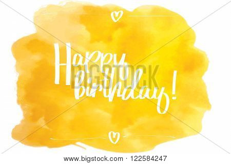 Happy Birthday Script Yellow.