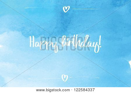 Happy Birthday Script Blue.