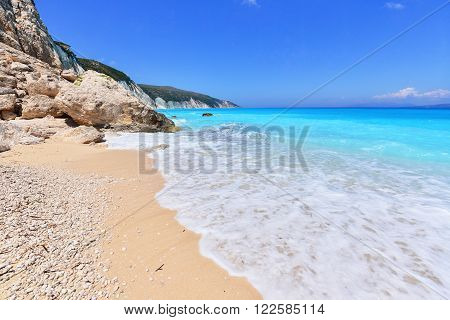 Landscape of Kefalonia island in eastern Greece