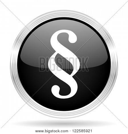paragraph black metallic modern web design glossy circle icon
