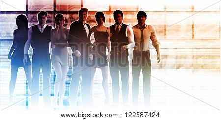 Formidable Business Team with Corporate Background as Concept
