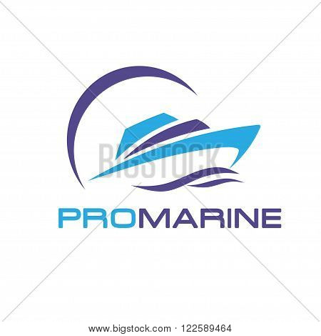 vector yacht, speed boat , ship , pro marine  logo vector