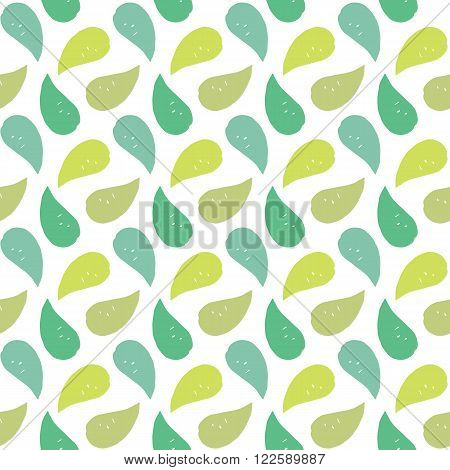 Retro style stylish nature seamless vector pattern with hand drawn paisley for fabric, cards, invitations, wrapping paper, stationery and web backgrounds. Cute trendy whimsical vintage leaf ornament.