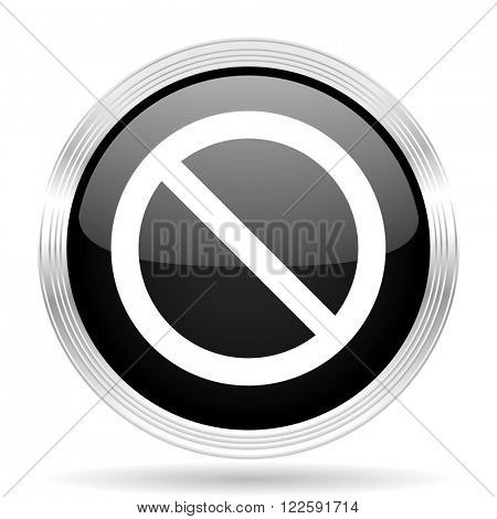 access denied black metallic modern web design glossy circle icon