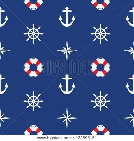 vector abstract background with seamless sea pattern