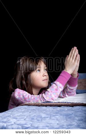 Bowing for prayers at bedtime.