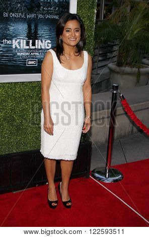 Veena Sud at the Los Angeles Season 2 premiere of AMC's 'The Killing' held at the ArcLight Cinemas in Hollywood, USA on March 26, 2012.