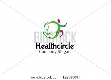 Health Circle Design Symbolic And Creative Logo