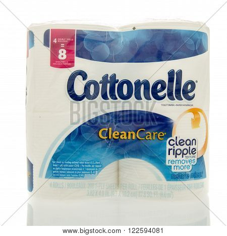 Winneconne WI - 6 Feb 2016: Package Cottonelle toilet paper.