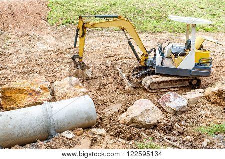 Concrete Pipe Under Construction