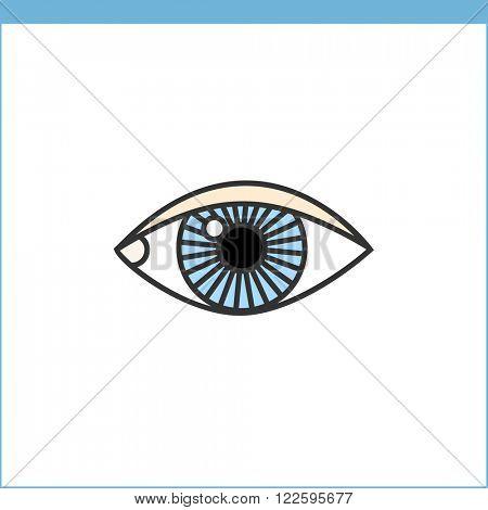 Eye vector icon. Linear style