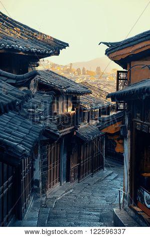 Old street view in Lijiang, Yunnan, China.