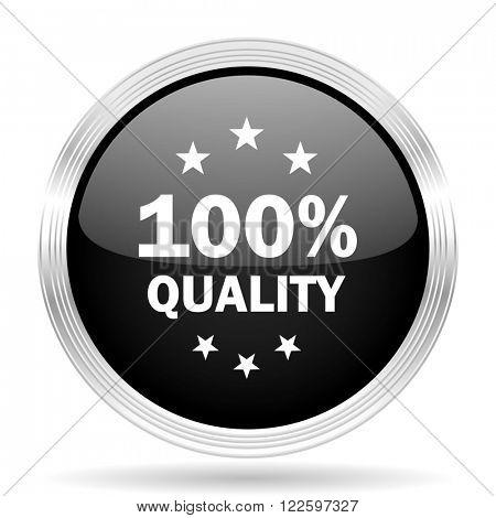 quality black metallic modern web design glossy circle icon