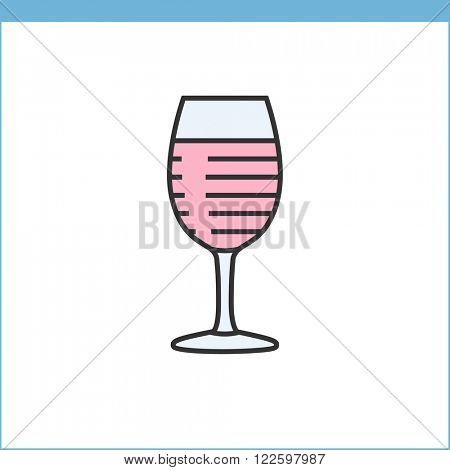 Wine glass vector icon. Linear style