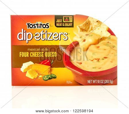 Winneconne WI - 23 Dec 2015: Package of Totitos dipetizers mexican style in four cheese queso flavor.