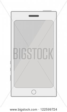 Smartphone cartoon phone design and modern smartphone business cartoon tablet vector. White smartphone flat designs cartoon telephone screen vector illustration. Technology phone screen