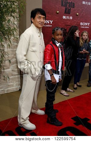 Jackie Chan and Jaden Smith at the Los Angeles Premiere of