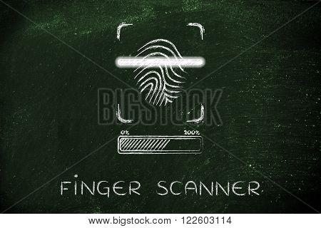 Finger Scanner: Scan In Progress