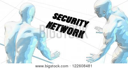 Security Network Discussion and Business Meeting Concept Art