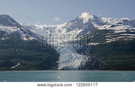 Wellesley Glacier in College Fjord in Southcentral Alaska