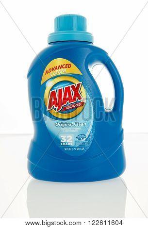 Winneconne WI - 4 Feb 2016: Bottle of Ajax laundry detergent.