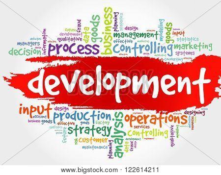 DEVELOPMENT word cloud business concept, presentation background