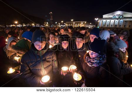 Saint-Petersburg Russia - March 19 2016: Global action
