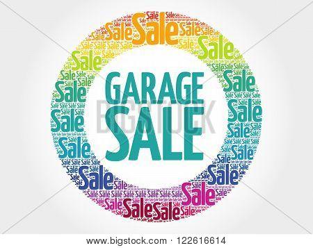 Garage Sale Stamp Words Cloud