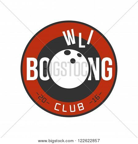 Bowling vector logo. Ball and strike with the letters