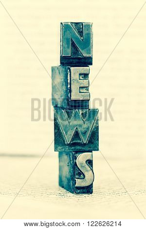 news written with lead letters