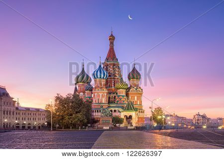 St. Basil's Cathedral of the Moscow Red Square