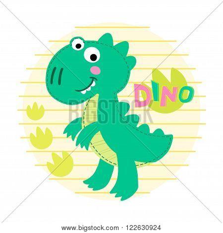 Dinosaur Rex vector illustration. Dinosaur vector background