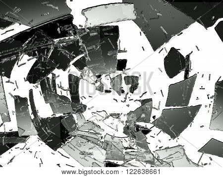 Glass Destruction Isolated On White