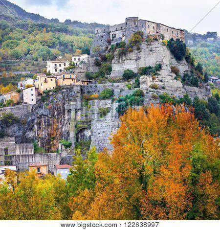 medieval villages  Cerro al Volturno (castello Pandone) in Molis