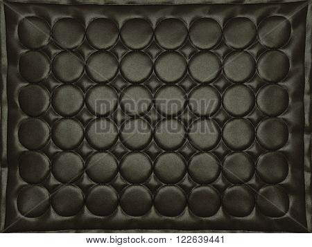 Bumped Black Leather Background With Circles