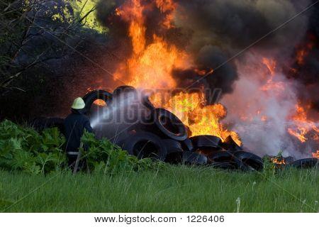 Firefighters Battle
