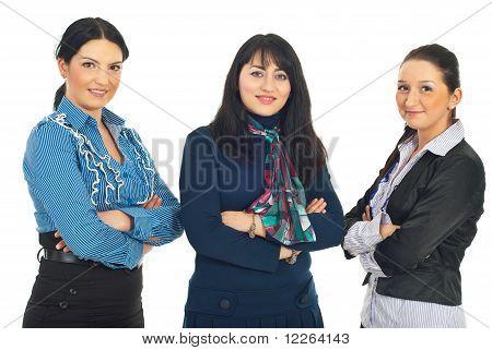 Row Of Three Business Women