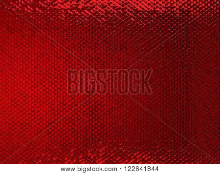 Scales Or Squama Red Texture Or Metallic Background