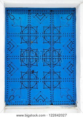 Traditional Door From Sidi Bou Said In Tunisia