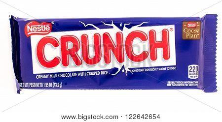 Winneconni WI - 19 June 2015: Nestle Crunch candy bar