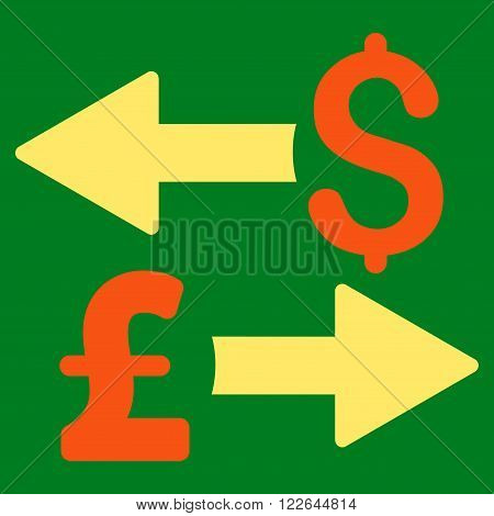Dollar Pound Transactions vector icon. Dollar Pound Transactions icon symbol. Dollar Pound Transactions icon image. Dollar Pound Transactions icon picture. Dollar Pound Transactions pictogram.