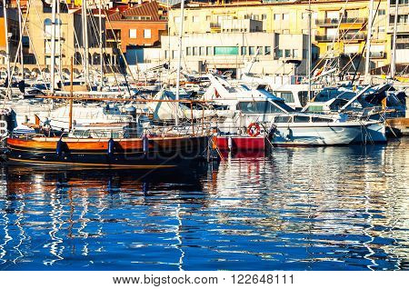 Luxury yachting club in Catalonia