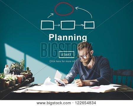 Planning Organization Chart Homepage Concept