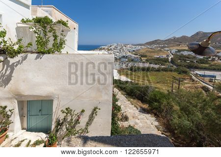 Amazing Panorama of Chora town, Naxos Island, Cyclades, Greece