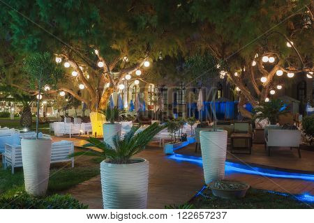 Greece, Rhodes - July 11 : The lounge area of the casino of Rhodes on July 11, 2014 in Rhodes, Greece
