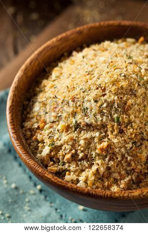 Organic Homemade Bread Crumbs Ready for Cooking